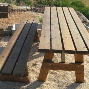 155592ImageFile2 300x300 - שולחן עץ + ספסל דגם 204