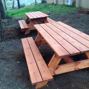 """פיקניק מעץ 6 300x300 - שולחן פיקניק קק""""ל 1.80 מ'"""
